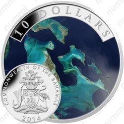 10 долларов 2014, вид из космоса