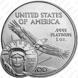 100 долларов 2001, американский орёл