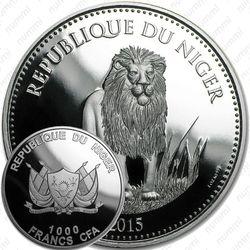 1000 франков 2015, лев