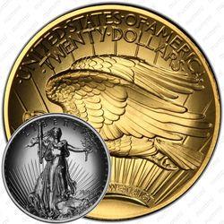 20 долларов 2009, двойной орёл