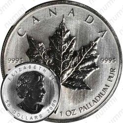 50 долларов 2009, кленовый лист