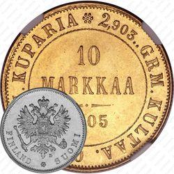 10 марок 1905, L
