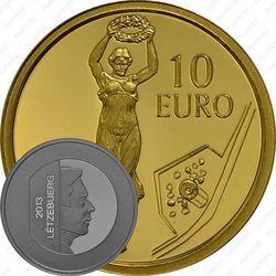 10 евро 2013, Золотая дама
