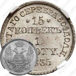 15 копеек - 1 злотый 1835, MW