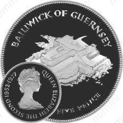 25 пенсов 1977, Елизавета II (серебро)