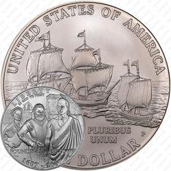 1 доллар 2007, Джеймстаун