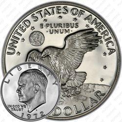 1 доллар 1972, доллар Эйзенхауэра, серебро
