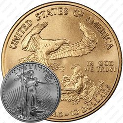 10 долларов 2001, американский орёл