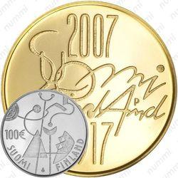 100 евро 2007, независимость Финляндии