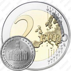 2 евро 2009, церковь Св. Людвига