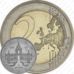 2 евро 2016, Дворец Цвингер