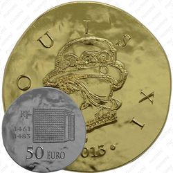 50 евро 2013, Людовик XI