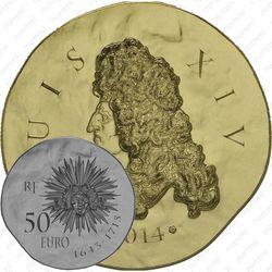50 евро 2014, Людовик XIV