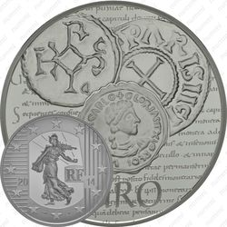 10 евро 2014, сеятельница