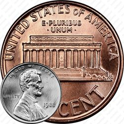 1 цент 1988