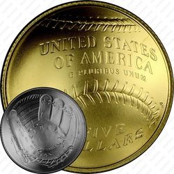5 долларов 2014, бейсбол