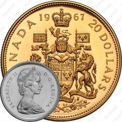 20 долларов 1967, 100 лет Конфедерации Канада