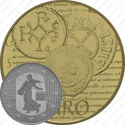100 евро 2014, сеятельница