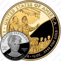 10 долларов 2012, Френсис Кливленд (W)