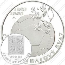 200 крон 2001, чешский футбол