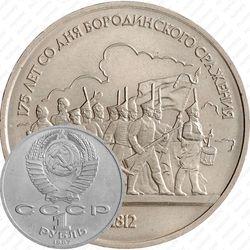 1 рубль 1987, барельеф (барельеф)