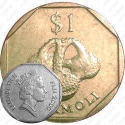1 доллар 2000, Saqamoli