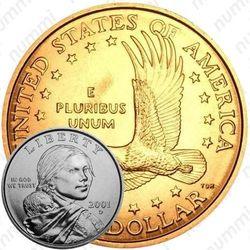 1 доллар 2001, Сакагавея