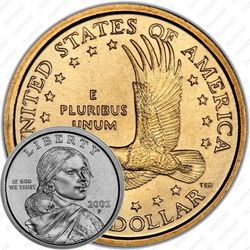 1 доллар 2002, Сакагавея
