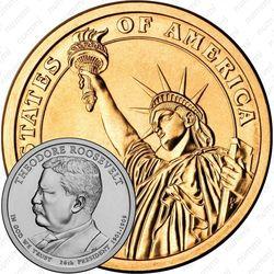 1 доллар 2013, Теодор Рузвельт