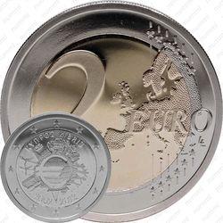2 евро 2012, 10 лет наличного евро (Кипр)