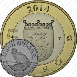 5 евро 2014, орлан-белохвост