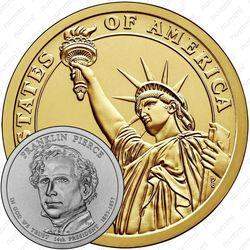 1 доллар 2010, Франклин Пирс