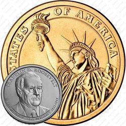 1 доллар 2014, Франклин Рузвельт