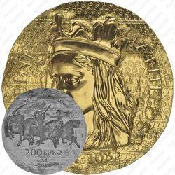 200 евро 2016, королева Матильда