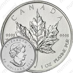 50 долларов 2012, кленовый лист