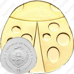 1 доллар 2012, золотая божья коровка