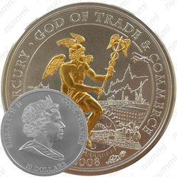 10 долларов 2008, Меркурий