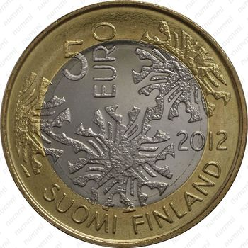 5 евро 2012, флора - Аверс