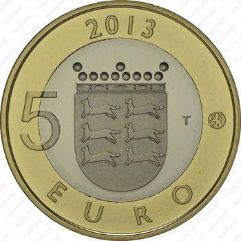 5 евро 2013, дом - Реверс