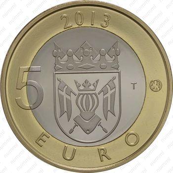 5 евро 2013, Кафедральный собор в Турку - Реверс