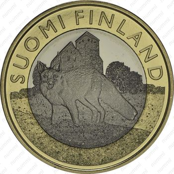 5 евро 2014, лиса - Аверс
