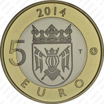 5 евро 2014, лиса - Реверс