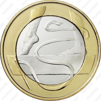 5 евро 2015, гимнастика - Реверс