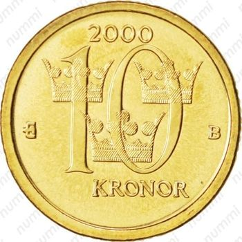 10 крон 2000, B - Реверс