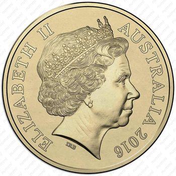 2 доллара 2016, олимпийская сборная Австралии - Аверс