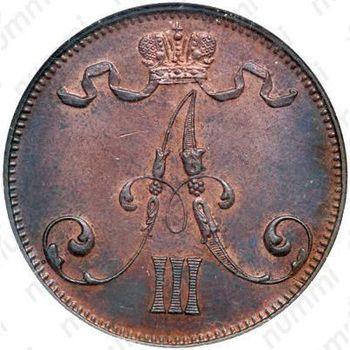 5 пенни 1892 - Аверс