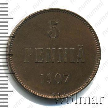 5 пенни 1907 - Реверс