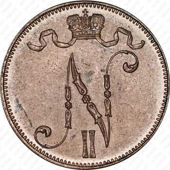 5 пенни 1914 - Аверс