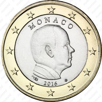 1 евро 2016 - Аверс