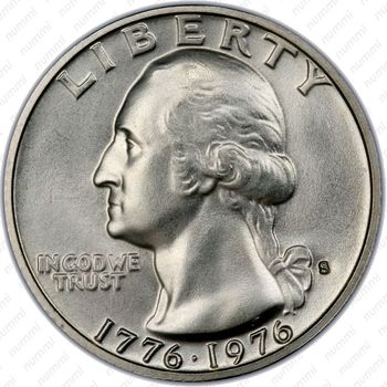 25 центов 1976, барабанщик, серебро